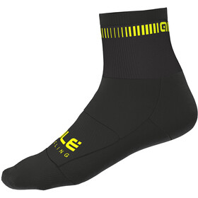 Alé Cycling Logo Socks 8cm black-flou yellow
